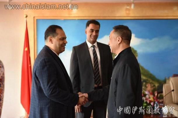 中国伊斯兰教协会金汝彬副会长会见埃及驻华使馆政务参赞一行(图)