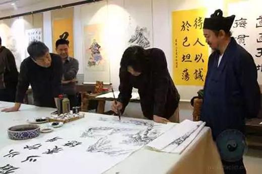 丹青溢彩 翰墨飘香——中国道教协会道家书画院举办书画笔会(图)
