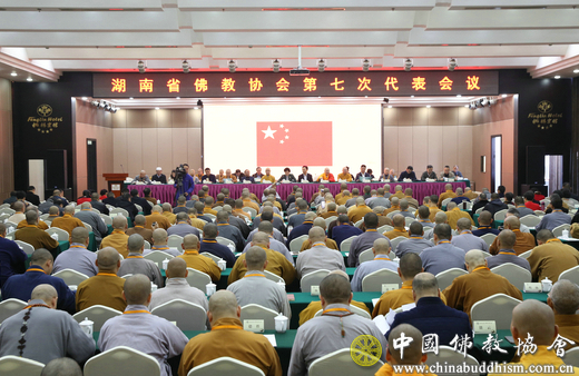 湖南省佛教协会召开第七次代表会议(图)