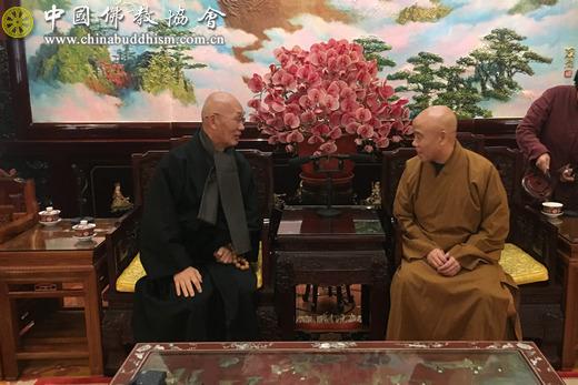 韩国太古宗安心精舍住持法眼法师一行拜访中国佛教协会(图)
