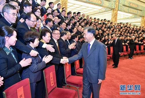 全国政协主席汪洋会见中国基督教第十次代表会议代表(图)