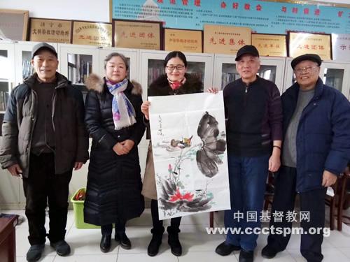 山东省济宁市黄家街基督教会举行迎新春书画交流活动(图)