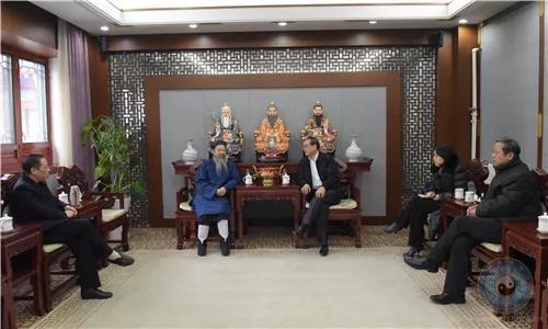 全国政协副秘书长郭军一行到访中国道教协会(图)