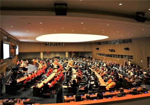 中美加佛教论坛在美国纽约联合国总部举行共议构建人类命运共同体(图)
