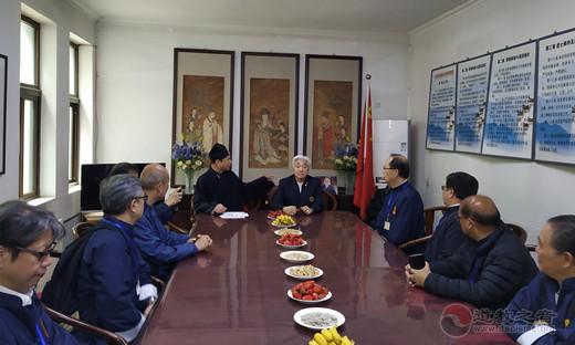 香港黄大仙祠参访团一行参访北京东岳庙(图)