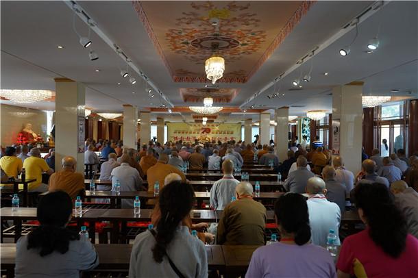 黑龙江省佛教界庆祝建国70周年系列活动在齐齐哈尔大乘寺举行(图)