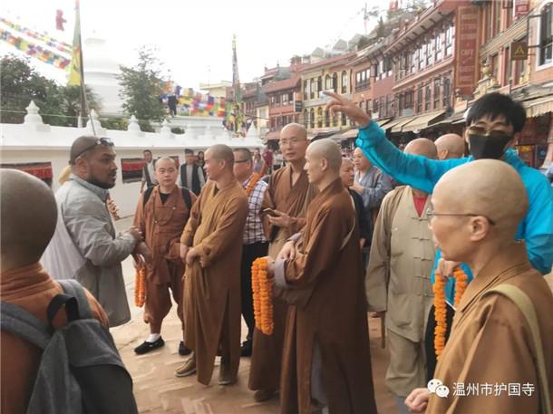 温州市佛教协会赴尼泊尔、不丹参访(图)