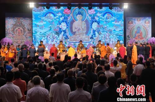 三大语系佛教高僧为香港繁荣稳定祈福(图)