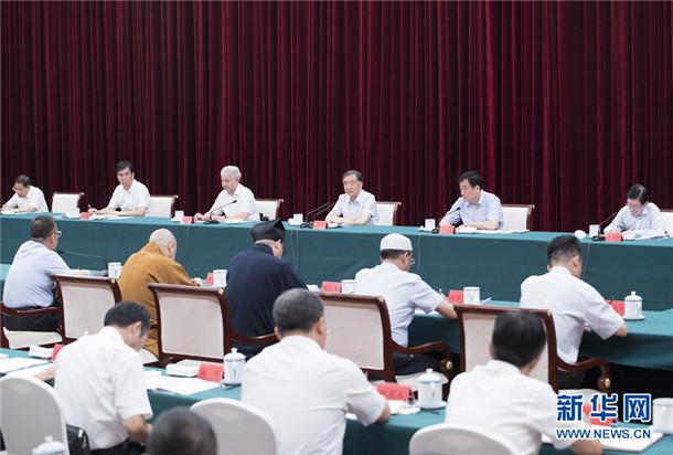 全国政协主席汪洋在江西调研宗教工作时强调 全面提升新时代宗教事务管理水平(图)