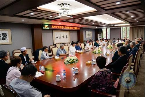 香港六宗教领袖座谈会北京交流团拜访中国道教协会(图)