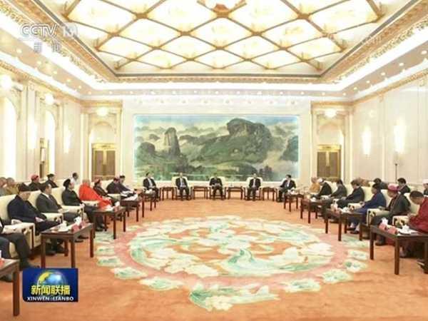 全国政协主席汪洋出席宗教团体负责人迎春座谈会(图)