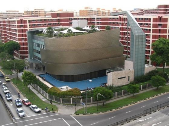 新加坡超大型教会——城市丰收教会因新冠状病毒暂停聚会(图)