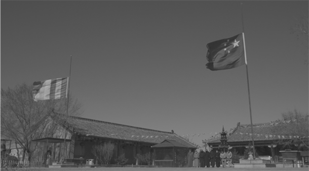 菩萨垂泪 春风含悲 吉林省全省佛教活动场所降半旗志哀(图)