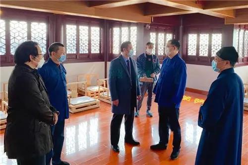 上海市民族宗教事务局副局长王凡一行赴上海道教学院了解疫情防控工作和复学相关情况(图)